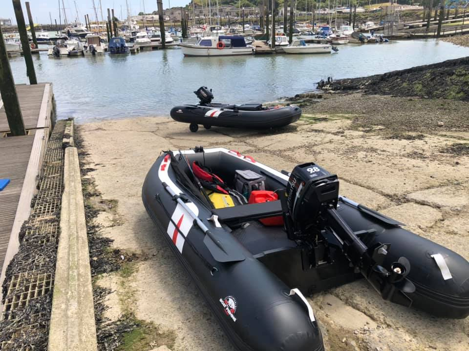 Two original Hydrus mk I on slipway ready for launch