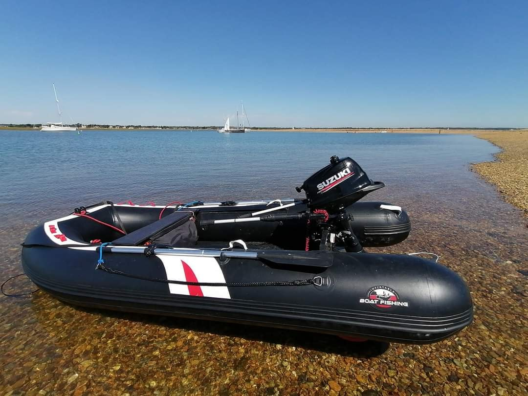 Hydrus I inflatable boat at the beach