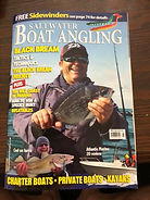 Front cover of Salt Water Boat Angling magazine that I appeared in