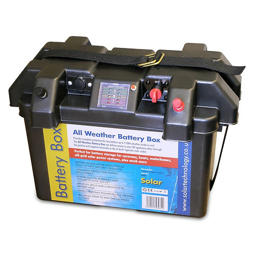 Solar Technology Deluxe All Weather Battery Box