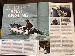 3 page spread in the fishing magazine