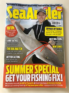 Front page of our Sea Angler magazine feature