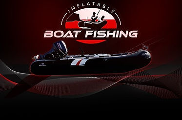 Flyer design of inflatable fishing boat