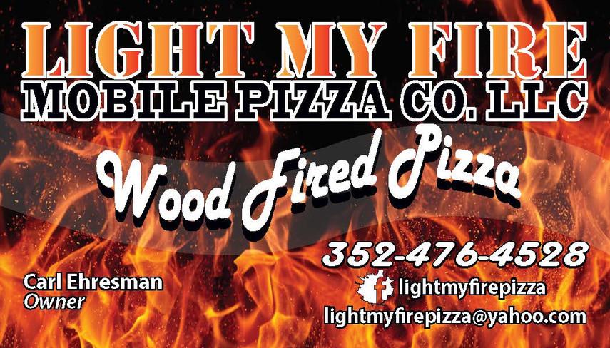 Light My Fire Pizza - Business Card - NE
