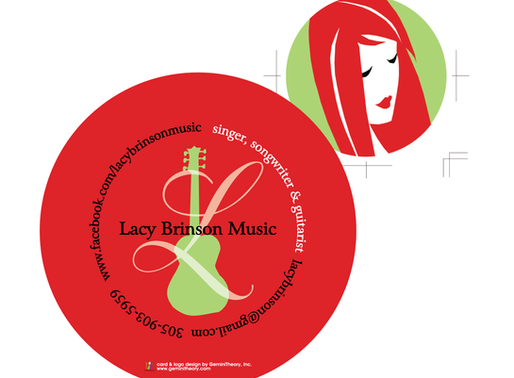 Lacy Brinson, Musician | Logo Design + Business Card