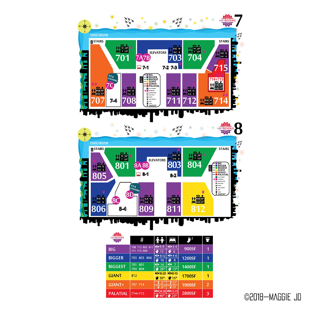Sales Reference Floor Plan Reference Guide + Color Key by Maggie Jo