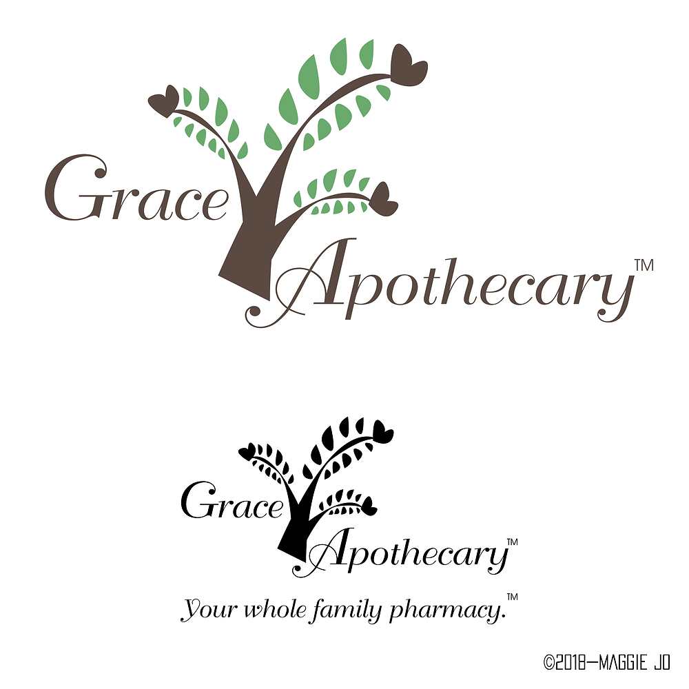 Grace Apothecary Tennessee Pharmacy Logo Design by  Maggie Jo