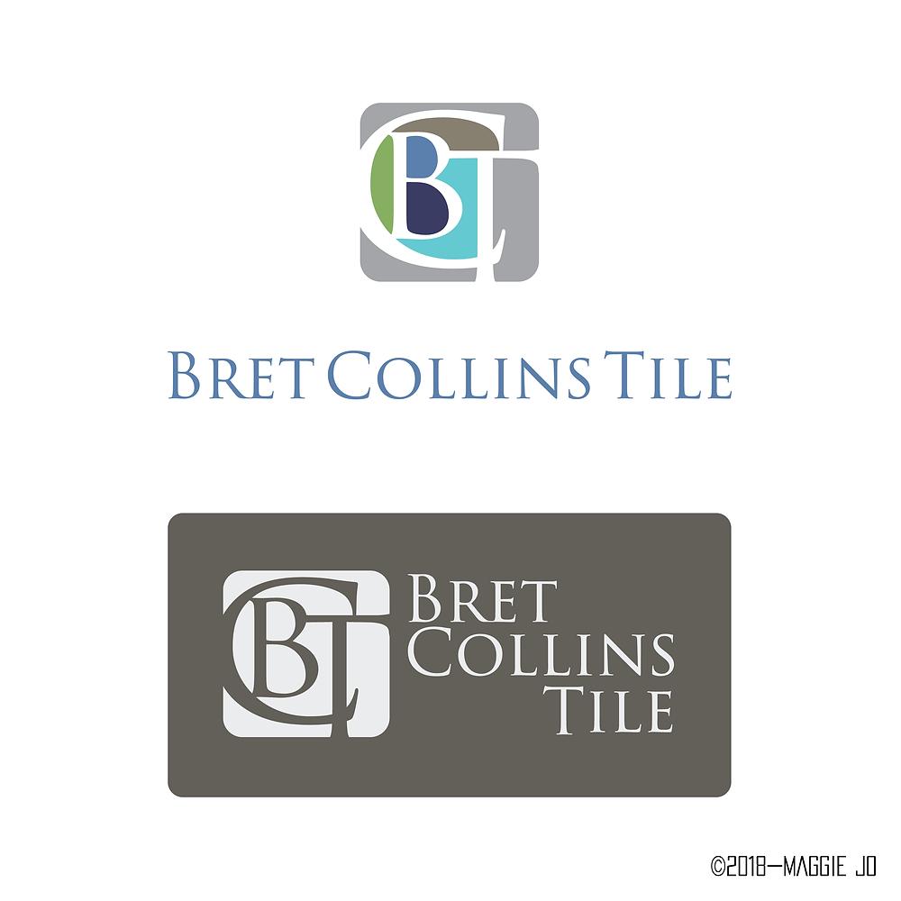 Bret Collins Tile Logo + Business Card Design 2016 by Maggie Jo