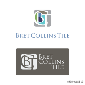 Bret Collins Tile Logo + Business Card Design 2016 by Maggie Jo