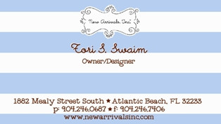 In-House Business Card Design for New Arrivals Inc Design by Maggie Jo