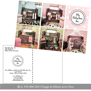Pink Multi-Product Postcard Flyer for New Arrivals Inc by Maggie Jo