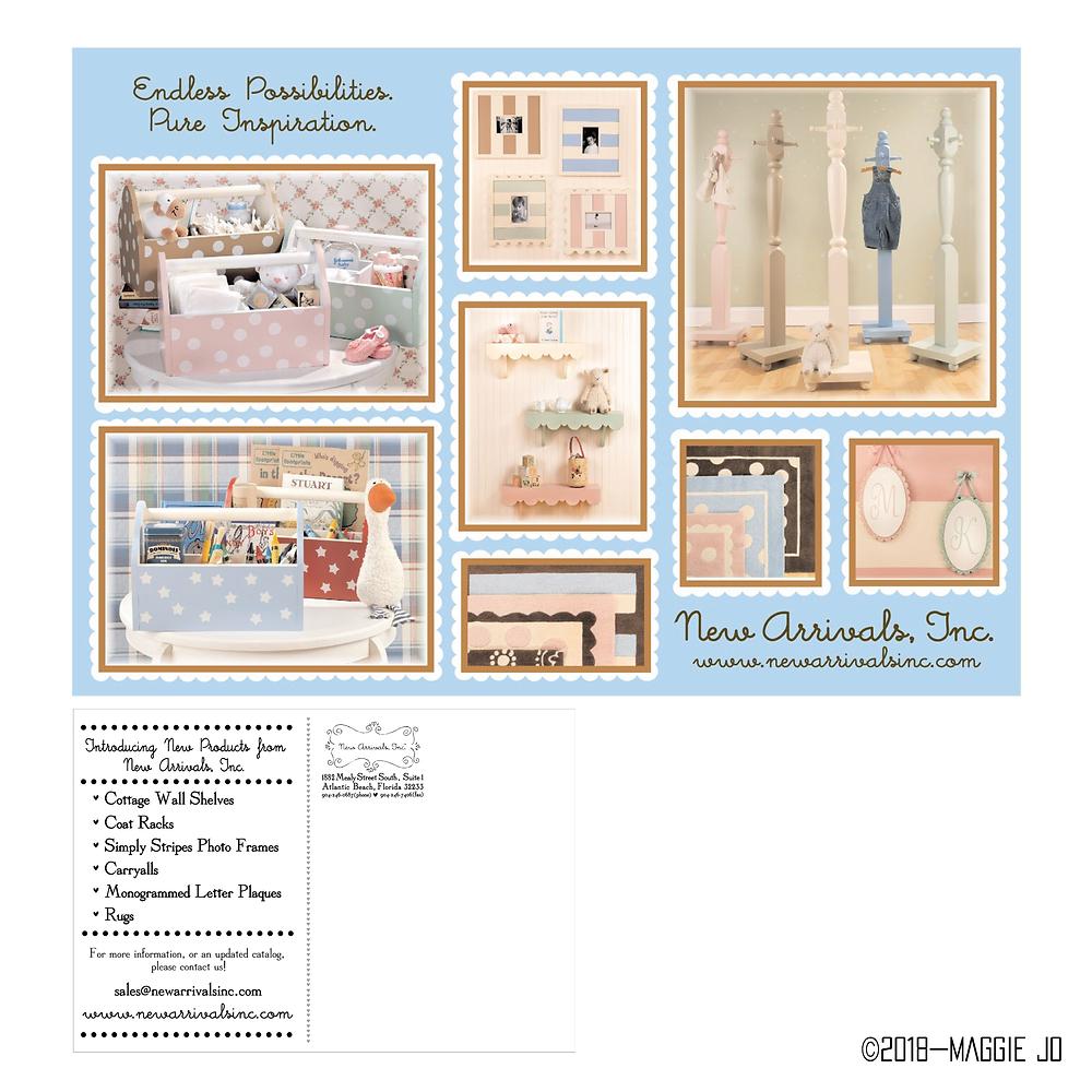 Postcard New Arrivals Inc Design by Maggie Jo