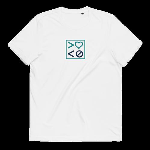 More Love. Less Hate. Unisex Organic Cotton T-Shirt