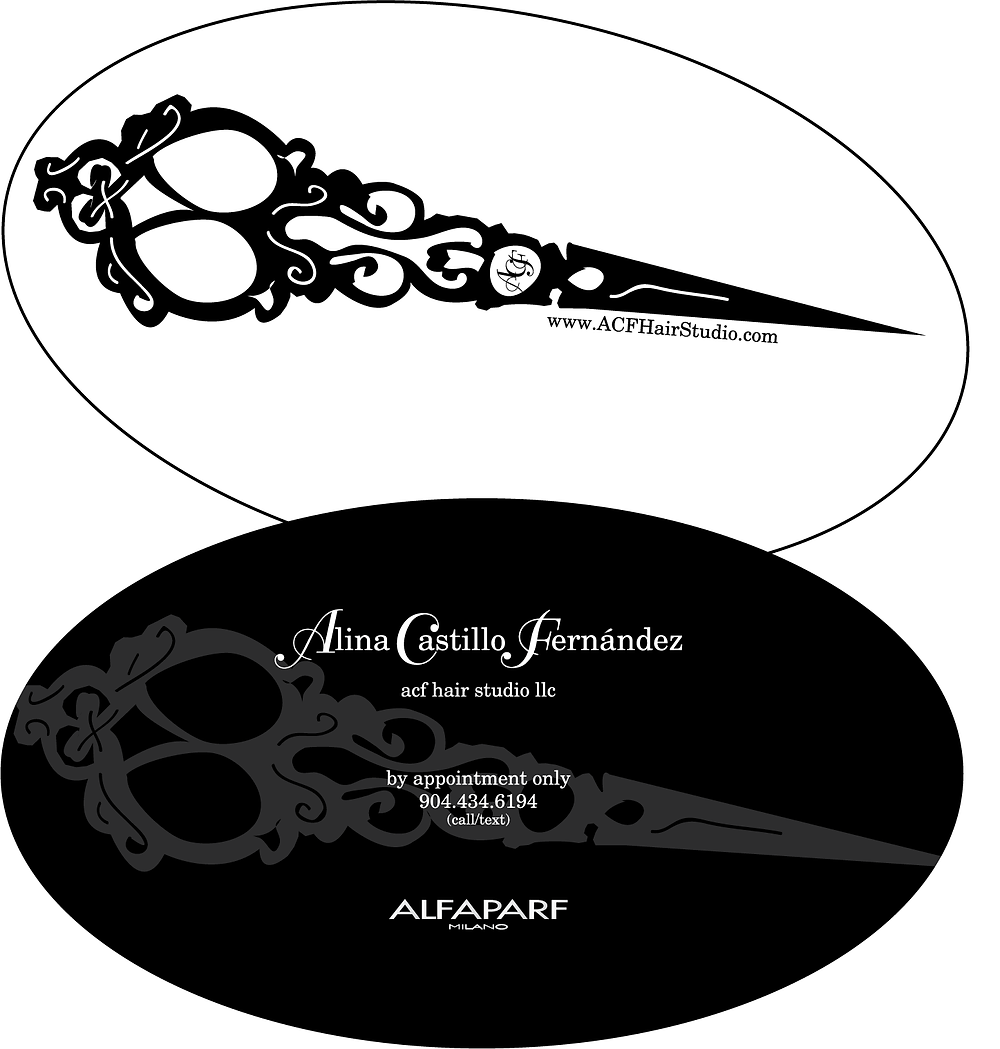 ACF Hair Studio Business Card Mock Up by Maggie Jo