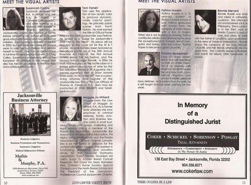 Jacksonville Area Legal Aid Inc., Volunteer + Artist (2009-2010)