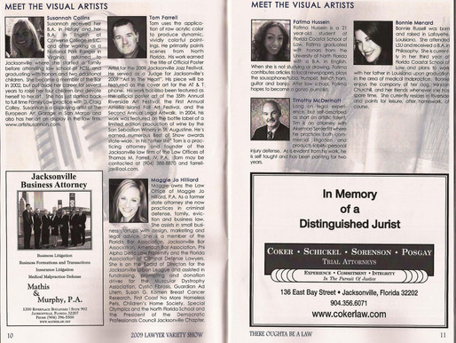 Jacksonville Area Legal Aid Inc., Volunteer + Artist (2009-2010)