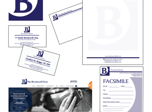 The Brockwell Firm | Logo Design + Branding + Stationery + Business Cards