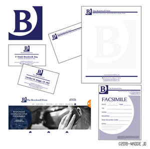The Brockwell Firm Identity Package by Maggie Jo