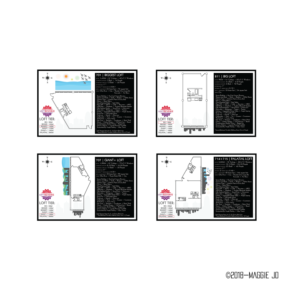 Floor plan design for Loft Reverie Hotel Louisville by Maggie Jo