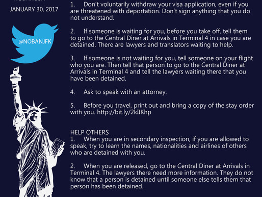 #NoBanNoWall JFK Airport Volunteer Immigration Attorney + Graphic Designer