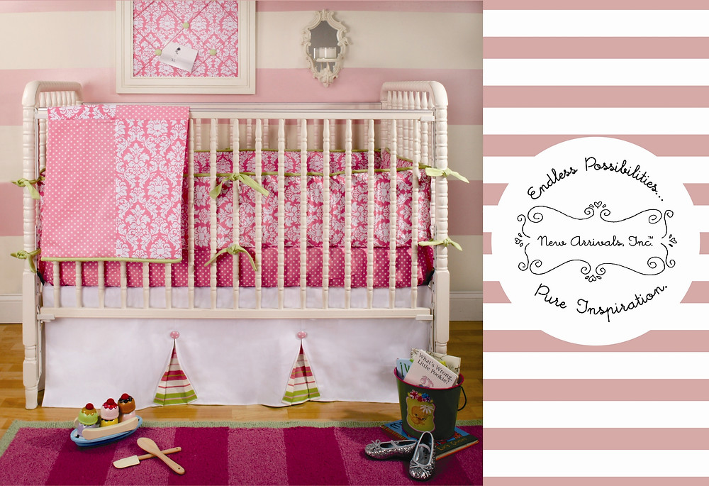 Pink Postcard for Baby Bedding New Arrivals Inc Design by Maggie Jo