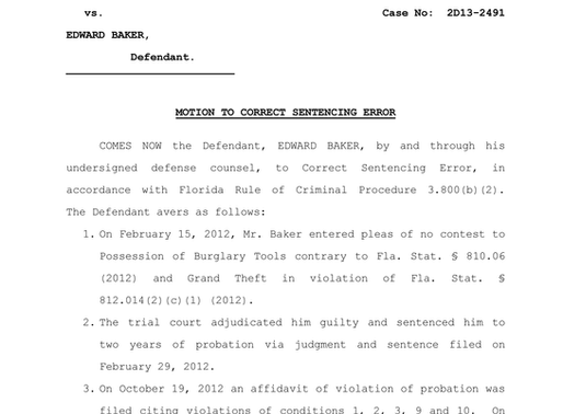 Appellate Practice Success: Original Jurisdiction Petition for Sentence Correction