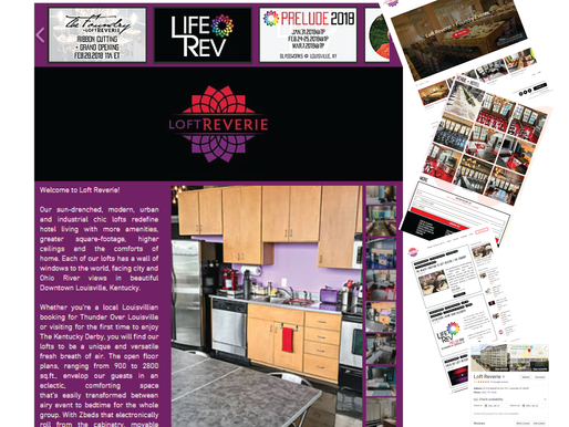 Loft Reverie Hotel + LifeRev Event Logos Designs + Web Design + Promotion