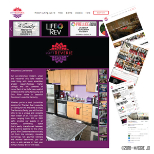 Loft Reverie Hotel Design + Logo + Web + Photography by Maggie Jo