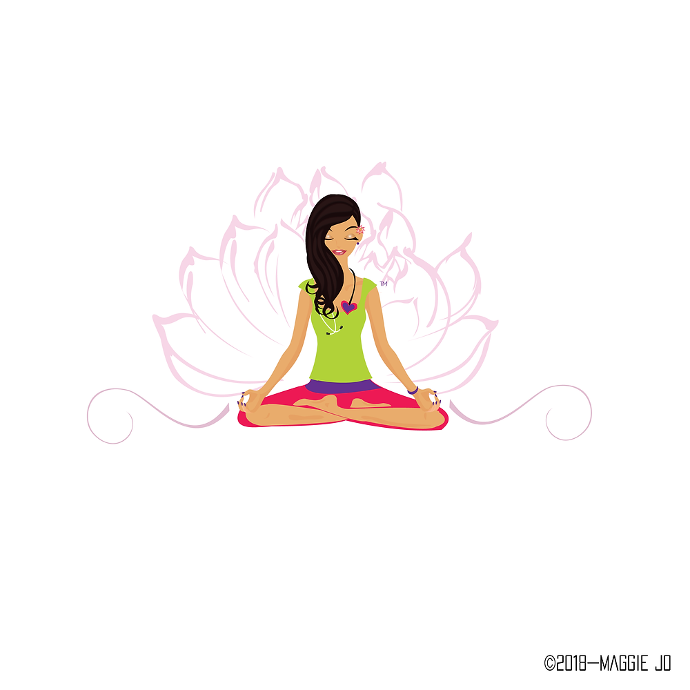Yoga Meditation Lotus Doctor Logo By Maggie Jo