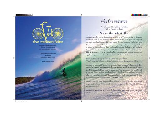 OmVelo Magazine Advertisement Design
