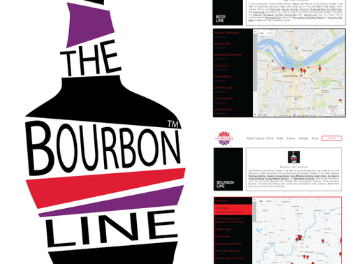 Bourbon, Beer + Wine Lines | Logos + Web Design With Custom Maps