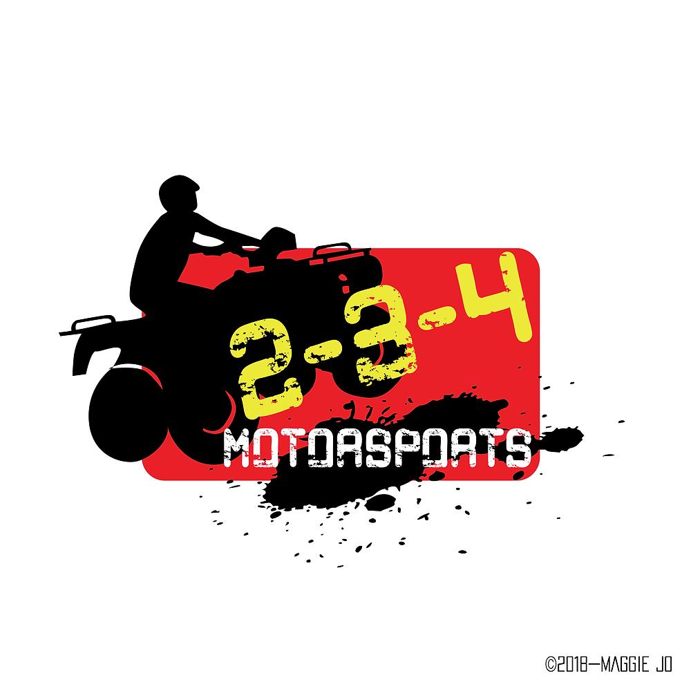 2-3-4 Motorsports Logo Design by Maggie Jo