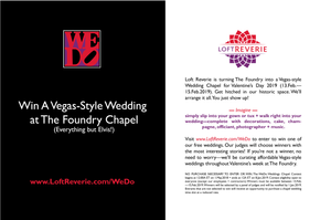 Postcard Design (Back) , Wedding Weeks Logo + Contest for The Foundry at Loft Reverie By Maggie Jo