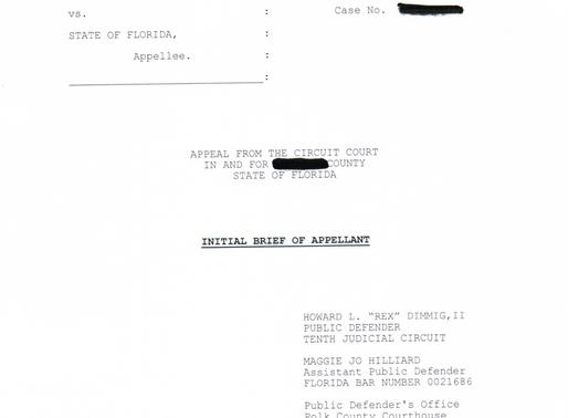 Appellate Practice: Burglary & Intent