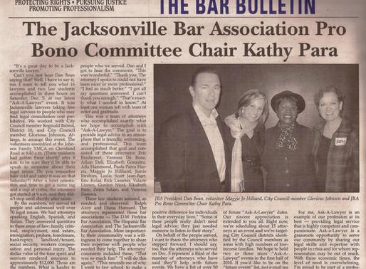 JALA Ask-A-Lawyer Volunteer Attorney, Jacksonville Bar Bulletin (2010)