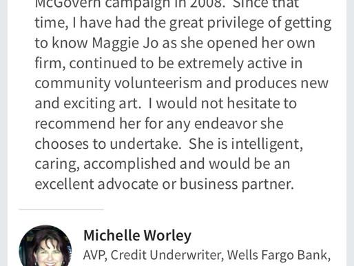 Testimonials Re: Maggie Jo