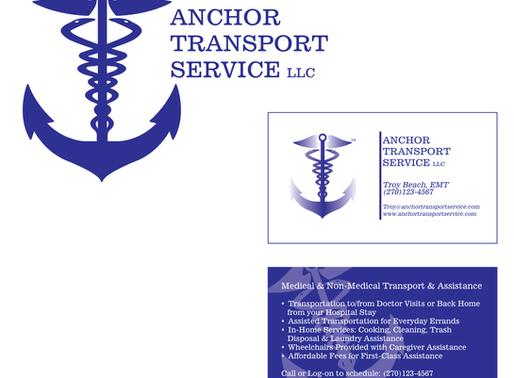 Anchor Transport Service | Logo Design + Business Card