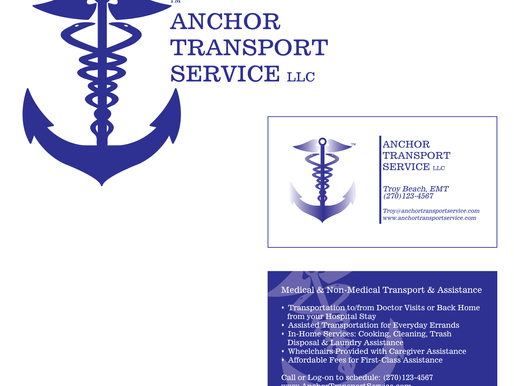 Anchor Transport Service | Logo Design + Business Card