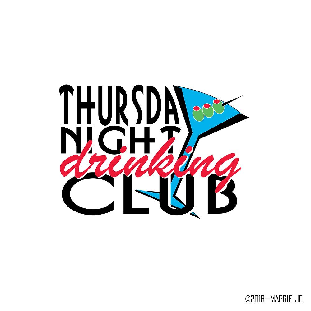Thursday Night Drinking Club Logo Design by Maggie Jo