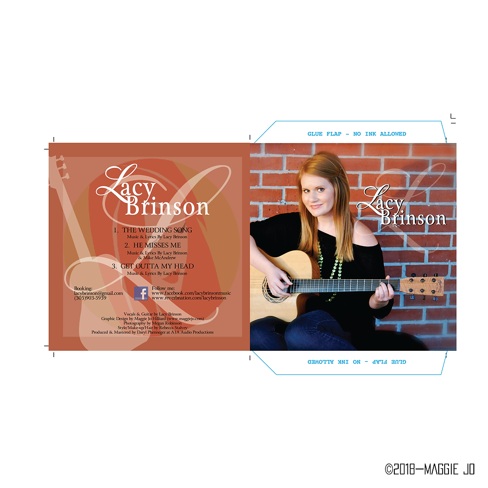 Compact Disk (CD) Case Sleeve Full Color Design by Maggie Jo