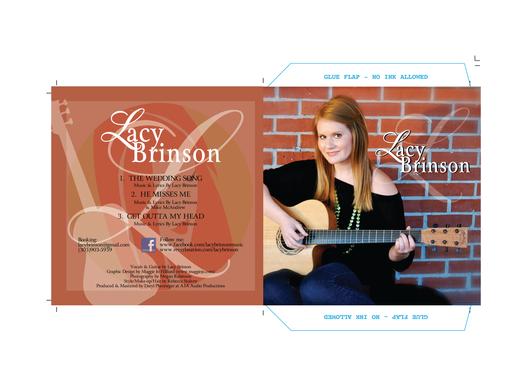 Lacy Brinson Music CD Case Sleeve Design + Logo Design