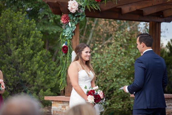 Saying his vows