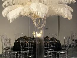 Ostrich Feather Centerpiece