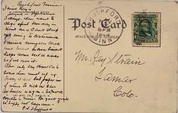 1908 La Grange Post Card - Original