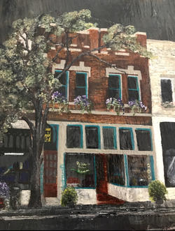 Gatewood Building Painting on Slate