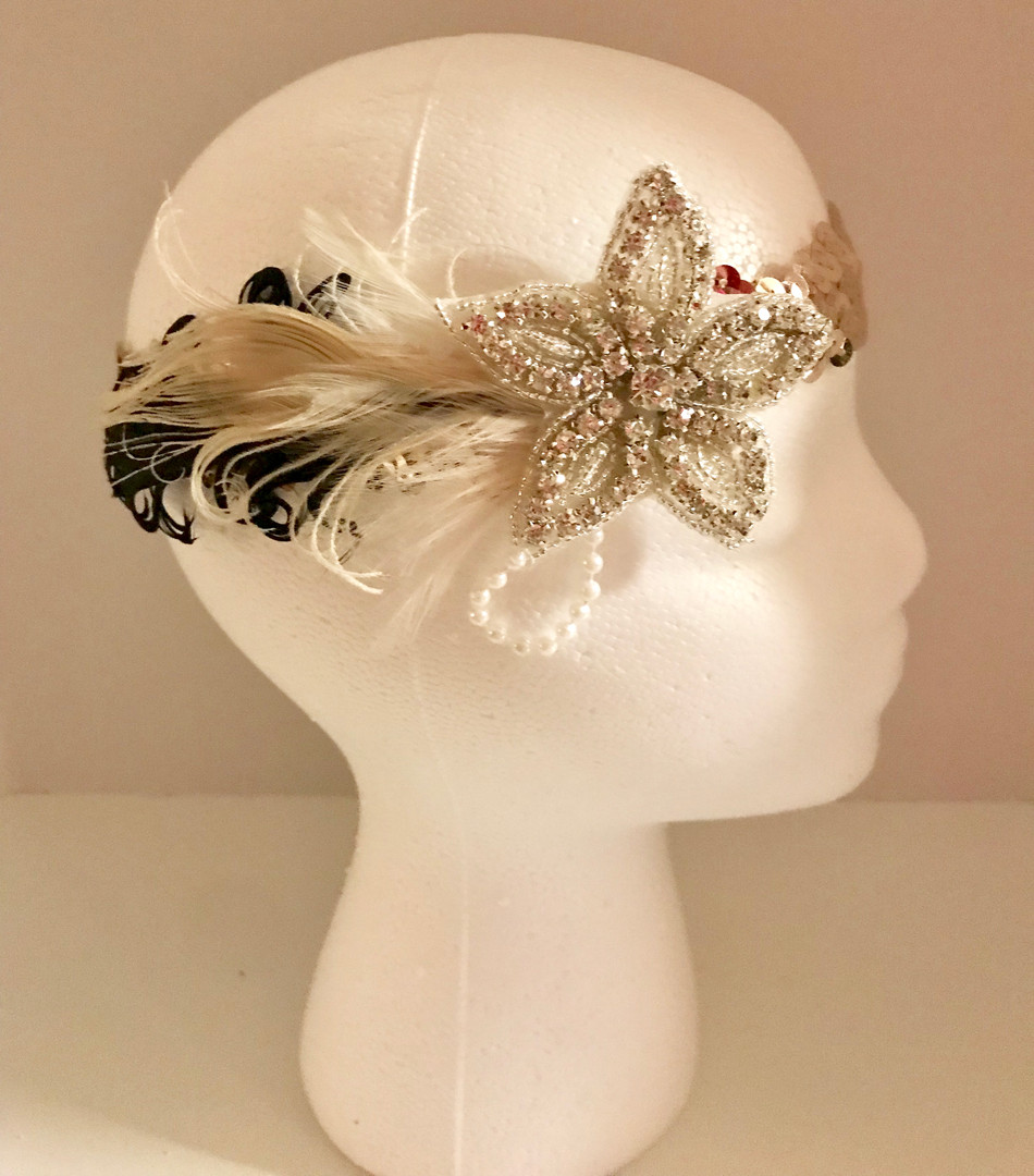 Flower Girl 20's Headband