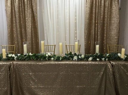 Pipe and Drape for Head Tables