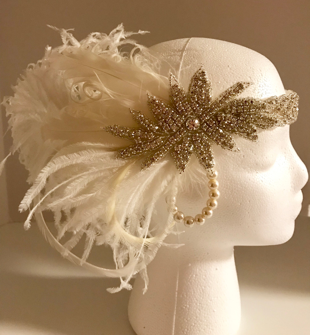 Bridal 20's / Gatsby Headpiece