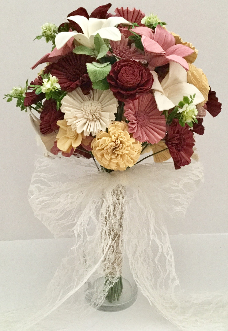 Custom Dyed Sola Wood Flower Bouquet