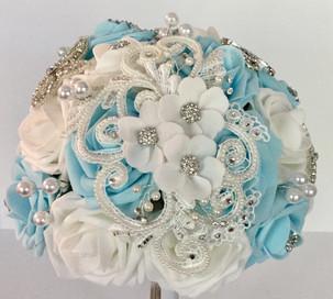 Beautiful Applique Brooch Bouquet
